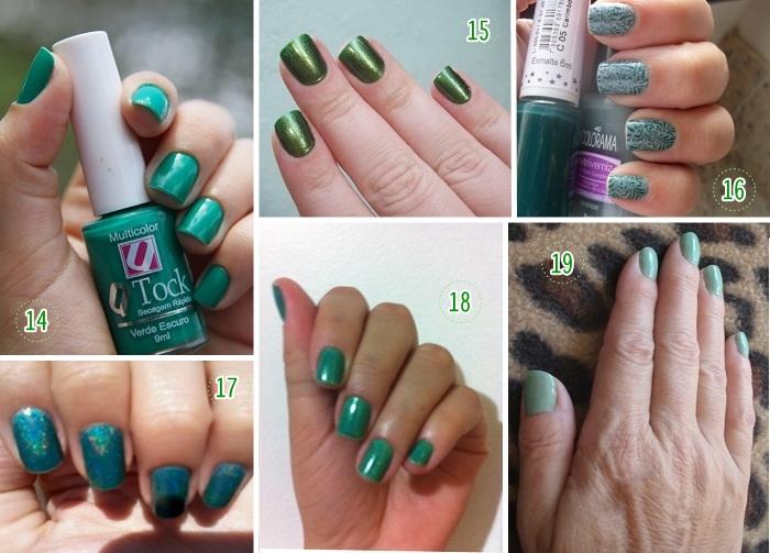 Cor de esmalte para vestido verde claro