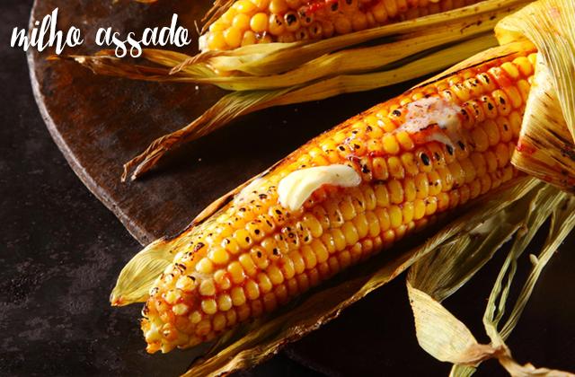 Comidas típicas milho assado