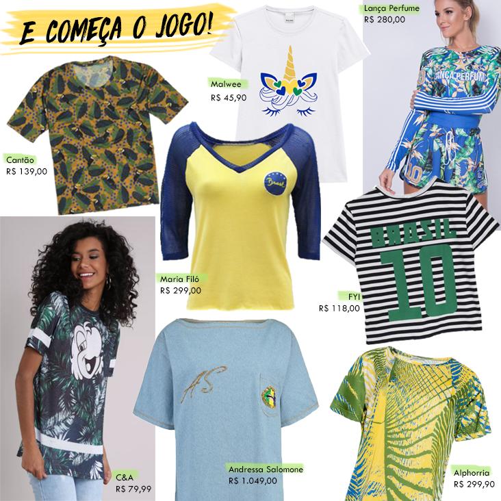 camisetas para a copa 2018
