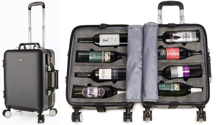 mala para transportar vinho